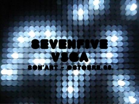 sevenfive + v3ga, Son'art, Bordeaux, France.