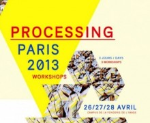 Affiche de Processing Paris 2013 par Mark Webster